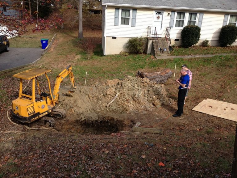 Digging up sewer lines