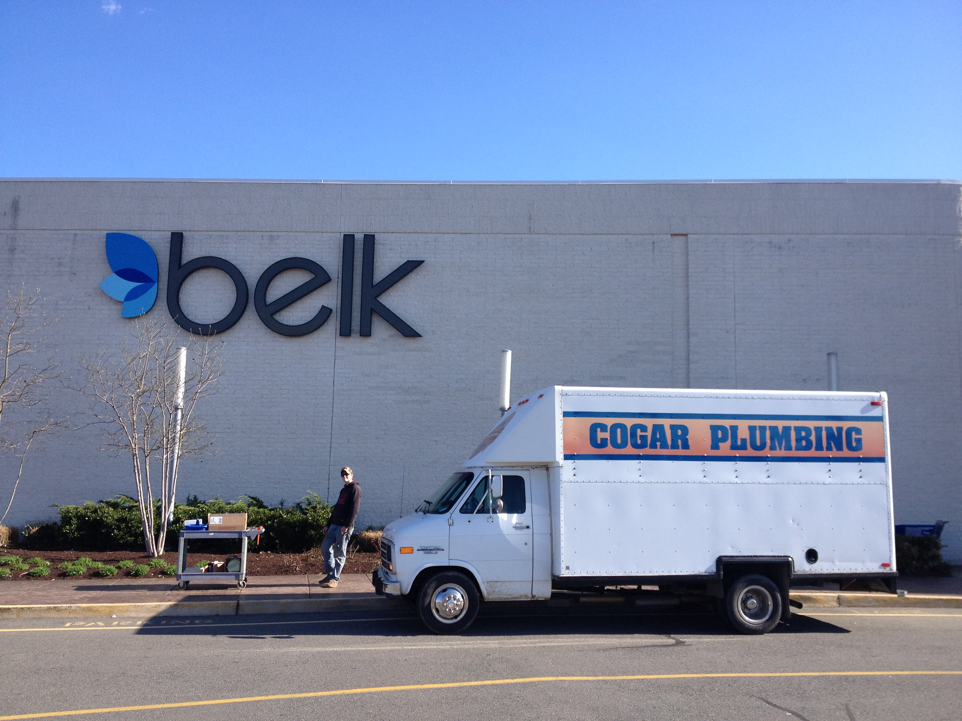 Truck outside of Belk
