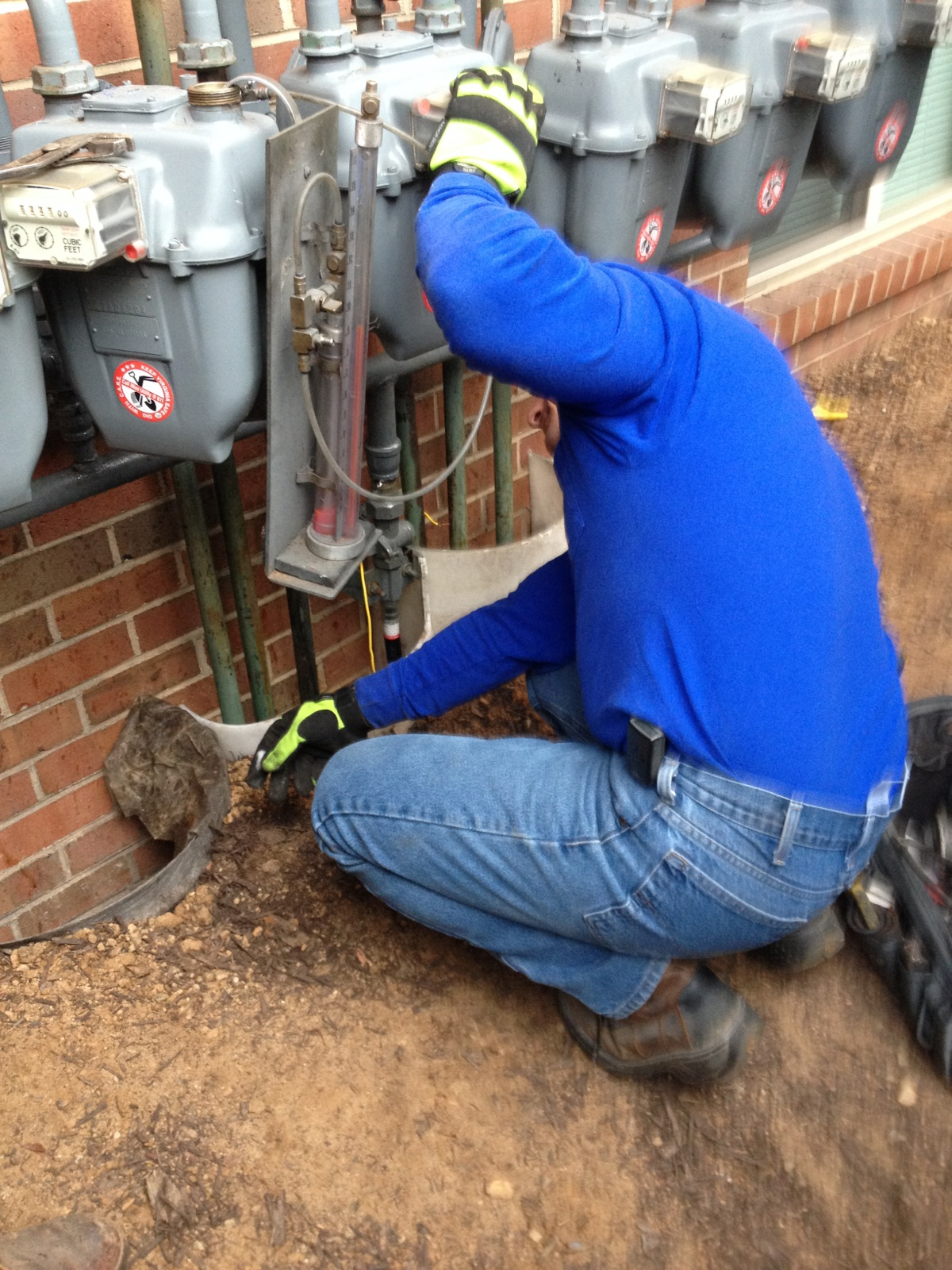 Plumber with electrical pipes