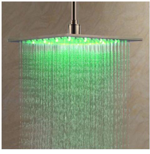 Green rain head shower