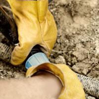 Gloves Pipe Dirt