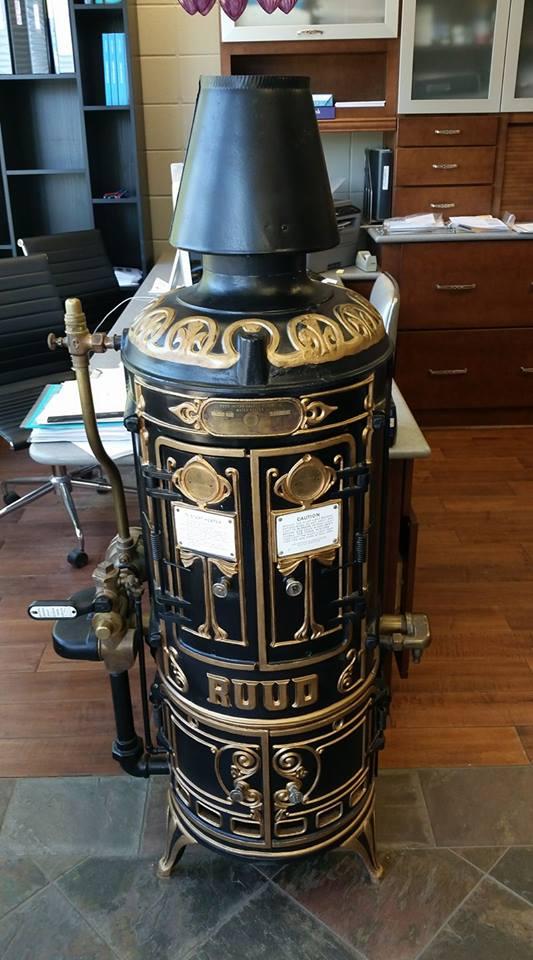 antique ruud heater