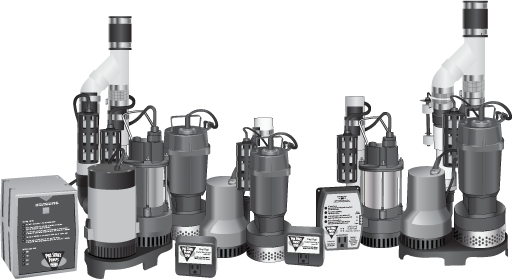 Various sump pumps