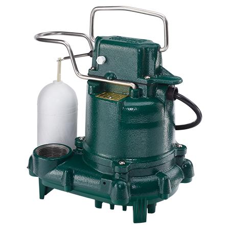Cast iron sump pump