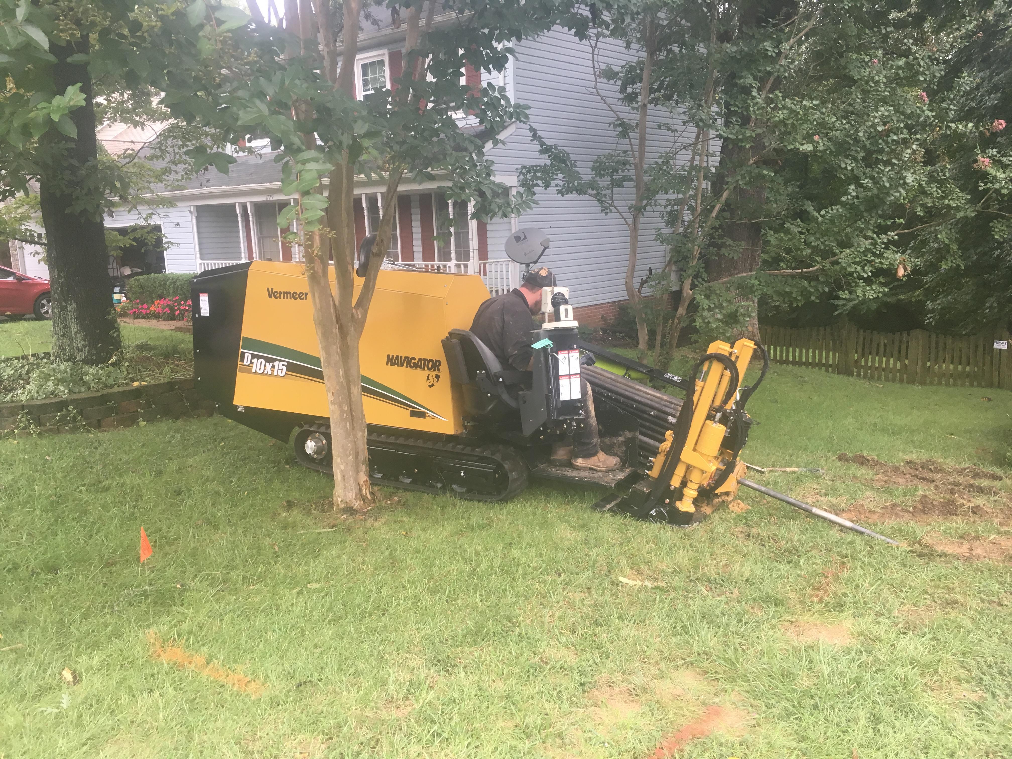 Plumbing in yard